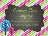 Common Core Language{Games, centers, crafts and more to te