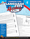 Common Core Language Arts 4 Today Grade 4 SALE 20% OFF! 104599