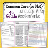 Common Core Language Arts Assessments for Fourth Grade