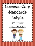 Common Core Lesson Plans Labels - 2nd Grade