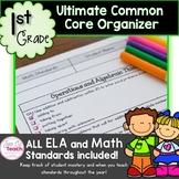 Common Core Math- 1st Grade Teacher/Parent Check Sheet