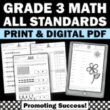 Common Core Math Grade 3 ALL STANDARDS Homework Daily Morn