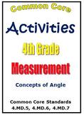 Common Core Math 4th Grade Measurement Activities - Angles