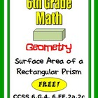 Common Core Math 6th Grade Geometry 6.G.4 Surface Area Prisms