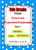 Common Core Math 6th Grade Ratios and Proportional Relatio