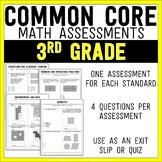 Common Core Math Assessments - 3rd (Third) Grade