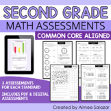 Common Core Math Assessments - All Standards - Second Grade