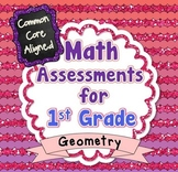 Common Core Math Assessments for 1st Grade - Geometry (Gra