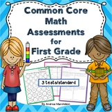 Common Core Math Assessments for First Grade (3 tests/standard)