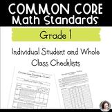 Common Core Math Checklists - Individual and Class - Grade 1