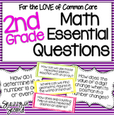 Common Core Math Essential Questions Posters 2nd Grade