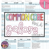 Common Core Math Galore {1st Grade Checklist}