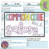 Common Core Math Galore {Kindergarten Checklist}