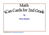Common Core Math I Can Cards for 2nd Grade