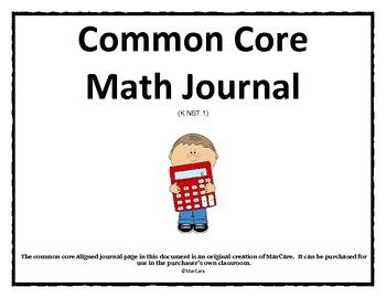 Common Core Math Journal
