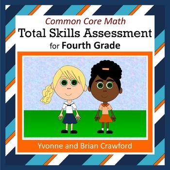 No Prep Common Core Math Skills Assessment (4th Grade)