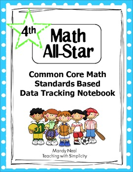 Common Core Math Standards Based Data Tracking Notebook-Grade 4