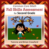 Fall No Prep Math Assessment - Second Grade Common Core