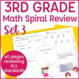 Common Core Math Warm Up/Morning Work- 3rd Grade- Set 3