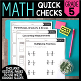 Common Core Math Worksheets (for all 5th grade standards)