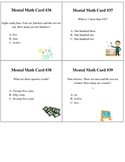 Common Core Mental Math for First and Second Grade