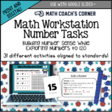 Workstation Task Cards, Numbers to 120, CCSS and TEKS Aligned