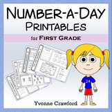 Number a Day Math Worksheets (first grade)
