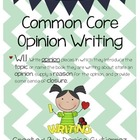Common Core Opinion Writing: Favorite Tree