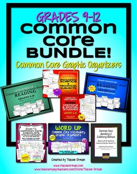 Common Core Organizers & Activities BUNDLE Grades 9-12