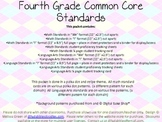Common Core Pack, Fourth Grade
