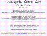 Common Core Pack Kindergarten