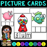 Common Core Phonemic Awareness and CVC Blending Picture Cards