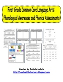 Common Core Phonological Awareness and Phonics Assessments