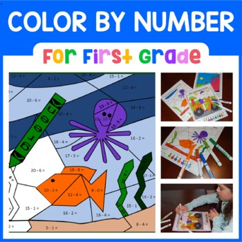 Color by Number (first grade) Color by Number, Addition and Subtraction