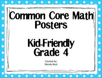Common Core Posters - 4th Grade Math