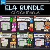 BUNDLE:  Common Core Reading Choice Boards{2nd Grade - Lit