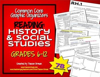 Common Core Reading History & Social Studies Graphic Organ