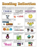 Common Core Reading Reflection Choices - Citations, Images