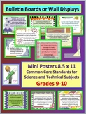 Common Core Science & Technical Subjects Mini Posters Grade 9-10