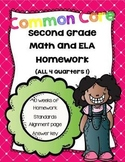 Common Core Second Grade Language Arts and Math Homework-M