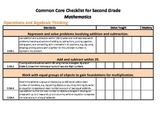 Common Core Standards Checklist Second Grade - Math