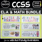 Common Core Standards Posters - Math & ELA (Kindergarten)