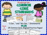 Common Core Standards Posters For Kindergarten (Illustrated)