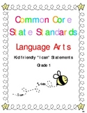 "Common Core Standards Language Arts & Math Gr. 1 ""I Can"" S"