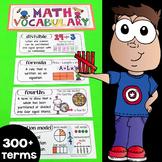 Interactive Math Notebook Vocabulary 3-5