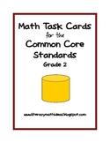 Common Core Standards Math Task Cards:  Grade 2
