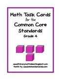 Common Core Standards Math Task Cards:  Grade 4
