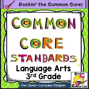 Common Core Standards Posters 3rd Grade Language Arts