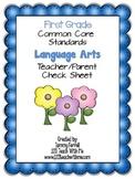 Common Core Standards for 1st Grade Language Arts Teacher/