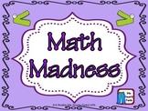 Common Core Style Calendar Math Madness
